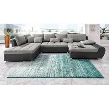 3 suisses canapé canapé panoramique en imitation cuir tissu méridienne fixe