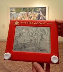 artist spends over 8 hours recreating iconic paintings on an etch
