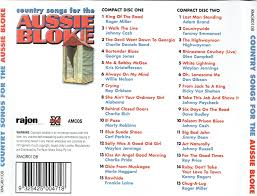 cd album various artists country songs for the aussie bloke
