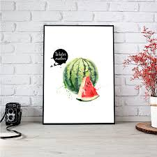 aliexpress com buy ananas avocado modern fruits canvas painting