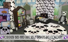 mod the sims toddler bed and rug set 7 designs 20 colours