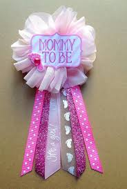 pink baby shower to be pin baby shower pin flower ribbon