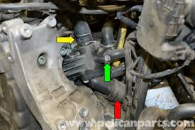 audi a4 b6 thermostat replacement 2002 2008 pelican parts diy
