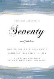 free printable 70th birthday invitation templates greetings island