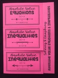 solving u0026 graphing absolute value equations u0026 inequalities foldable