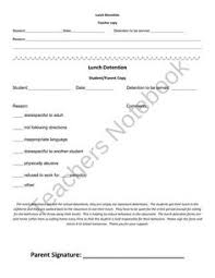 four lunch detention slips can be printed per page and given to