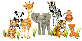 zoo animals wall stickers totally movable and removable