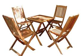 5 Piece Folding Table And Chair Set 5 Piece Outdoor Folding Bistro Set With Table And 4 Full Vertical