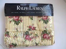 Ralph Lauren Comforter Queen Vintage Ralph Lauren Sophie Floral Queen Flat Sheet With Ruffle