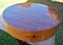 round end grain cherry cutting board