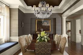 Chandeliers For Dining Room Traditional Dining Room Grass Cloth Wallpaper Dining Room Traditional With
