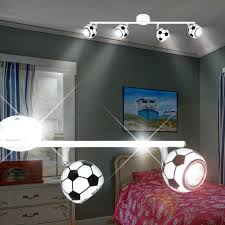 plafonnier chambre ado luminaire de chambre football projecteur de plafond enfant blanc