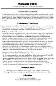executive assistant resume skills resume badak