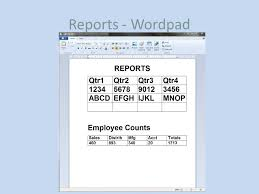 Count Words In A Document In Wordpad Common Word Processors A Comparison Ppt