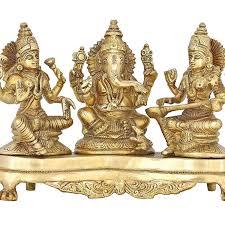 Saraswati Puja Invitation Card Amazon Com Handmade Indian Brass Ganesha Lakshmi U0026 Saraswati