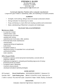 Combination Resume Samples Short Resume Examples Resume Example And Free Resume Maker