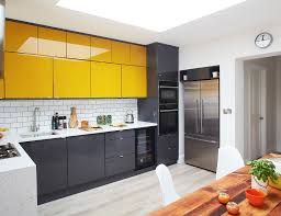 gray kitchen cabinets yellow walls 25 best kitchen paint and wall colors ideas for popular
