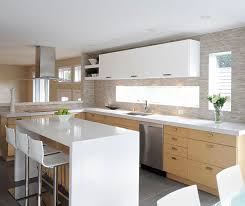 wood cabinets kitchen sophisticated white oak kitchen cabinets with gloss accents craft