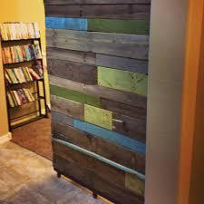 reclaimed wood sliding door project diy reclaimedwood diy