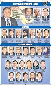 Portfolio Of Cabinet Ministers Abg Johari Unveils His New Team U2013 Borneopost Online Borneo
