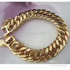 double gold bracelet images 2018 wholesale massive 8 2618k yellow gold filled men 39 s bracelet jpg