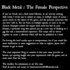 black metal the female perspective u2013 wyrd words and effigies