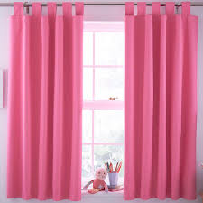 Lined Nursery Curtains by N A Pink Plain Tab Top Blackout Children U0027s Blackout Curtains W
