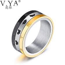 unique metal rings images Trendy 12 zodiacs men 39 s rings unique 3 circles rotatable stainless jpg