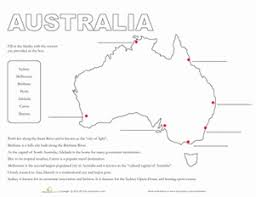 map of australia worksheet education com