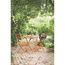 Folding Patio Bistro Set Bistro Sets Patio Dining Furniture The Home Depot
