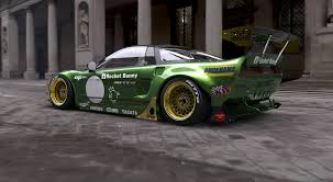 mazda rx7 rocket bunny kit rocket bunny takes on the honda nsx kw automotive blog