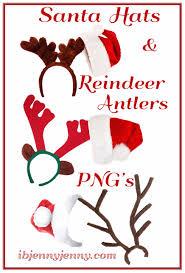 santa hats and reindeer antlers png u0027s by ibjennyjenny on deviantart