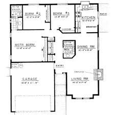 bedroom bungalow house designs modern floor plan plans kevrandoz