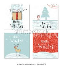 set 4 cute christmas cards quote stock vector 511580524 shutterstock