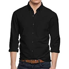 hb mens dress shirts button down solid long sleeve slim fit at