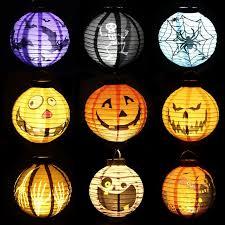 led halloween pumpkin lights lamp 20cm paper lantern 4 design