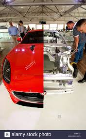 jaguar f type custom jaguar f type with cut away body showing the aluminium chassis on