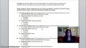 Thesis Sentences Creating A Thesis Statement And Outline Youtube