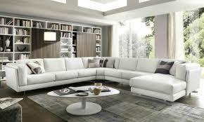 grand canapé grand canapé angle blanc bibliothèque moderne salon moderne
