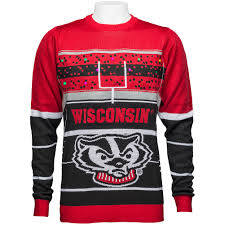forever collectibles wisconsin light up sweater black