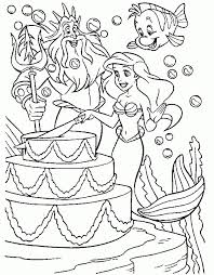 mermaid coloring pages disney printable 36152