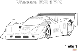 nissan skyline drawing outline 1991 nissan r90c coloring page free printable coloring pages