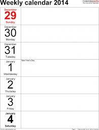 weekly calendar 2016 for pdf 12 free printable templates microsoft