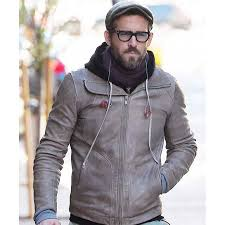 leather jacket for motorcycle riding biker ryan reynolds brown leather jacket prostarjackets