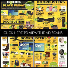 kohls black friday ad 2017 deals store hours ad scans