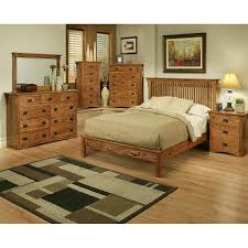 Bedroom With Oak Furniture Mission Oak Rake Bedroom Suite Queen Size