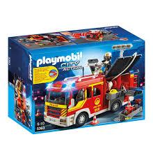Ebay Playmobil Esszimmer Playmobil City Action Feuerwehr Löschgruppenfahrzeug Mit Licht