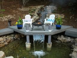 fire and water feature diy backyard design ideas