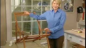 How To Repair Patio Chair Seats Video How To Replace A Beach Chair Seat Part 1 Martha Stewart