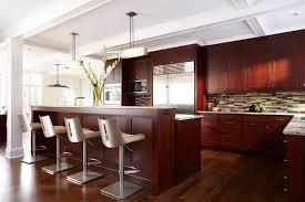 Kitchen Cherry Cabinets by Dark Cherry Cabinets Kitchen Contemporary With Arched Windows Dark
